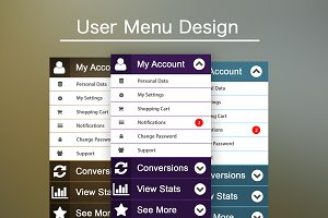 User Menu Design