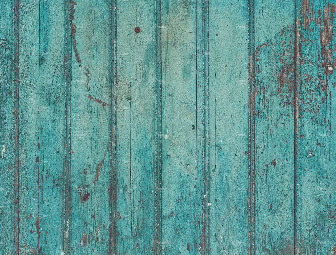 Old Painted Turquoise Wooden Texture Abstract Photos