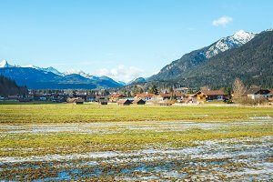 The green valley in Bavarian Alps