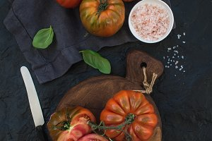 Fresh ripe heirloom tomatoes
