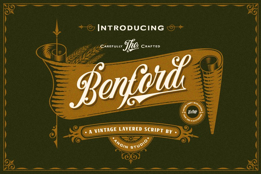 Benford Font Collections + Extras