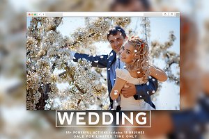 Premium Photoshop Action Wedding set
