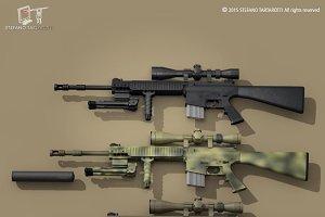Mk12 sniper rifle