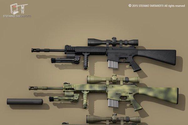 3D Weapons: Tartino 3D models - Mk12 sniper rifle