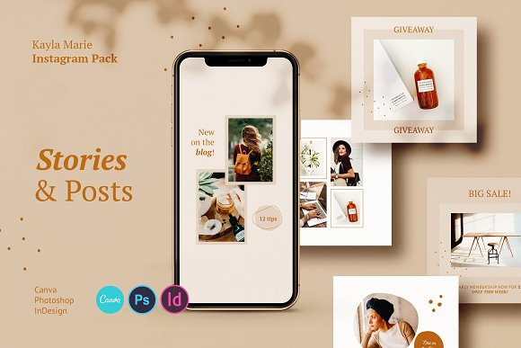Instagram Pack / Kayla in Instagram Templates - product preview 9