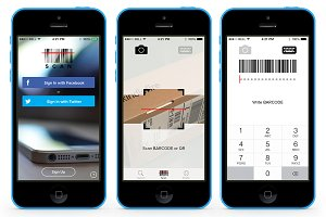 Scan App template PSD