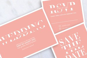 Modern Wedding Set Invitation