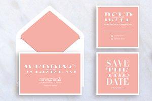 Modern Wedding Set Invitation