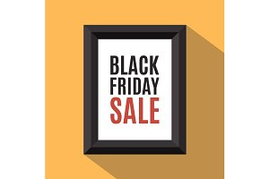 Black Friday sale poster.
