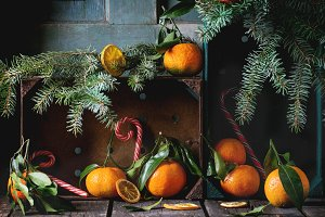 Tangerines (clementines) in Christma