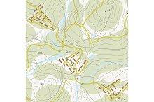 Topographic map of territory