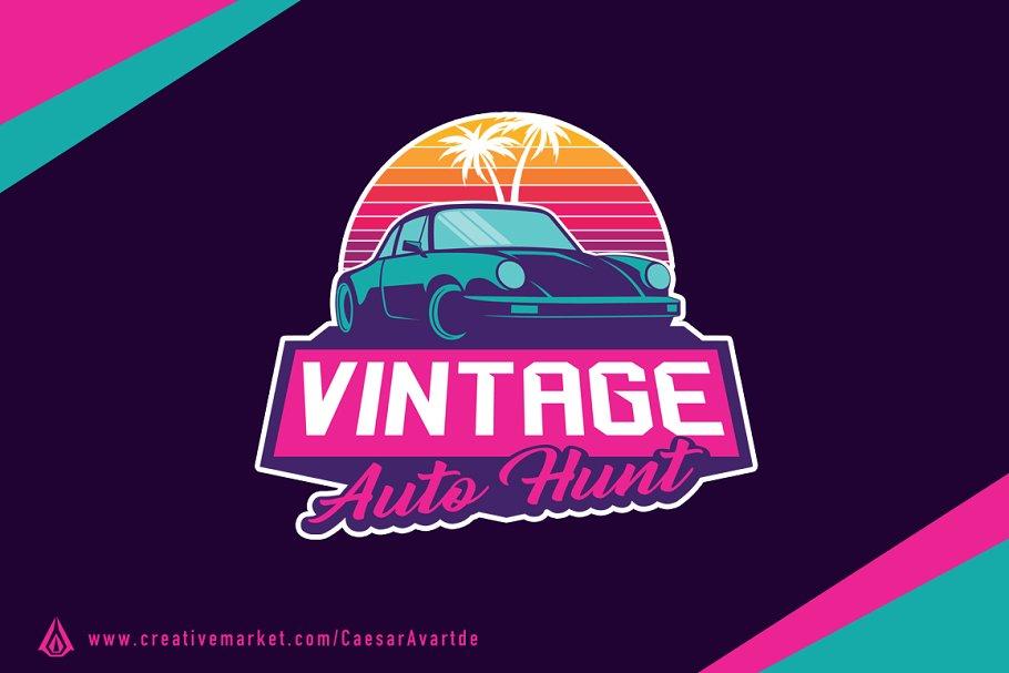 Vintage Retro Classic Car Logo