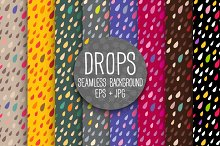 DROPS. Seamless background. Bright.