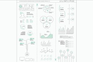 Outline Vector Infographics