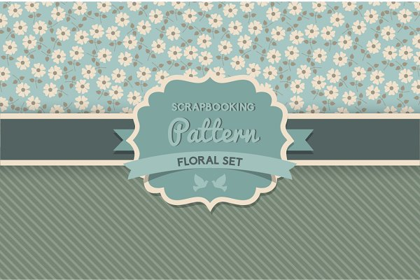 Daisy and stripes pattern