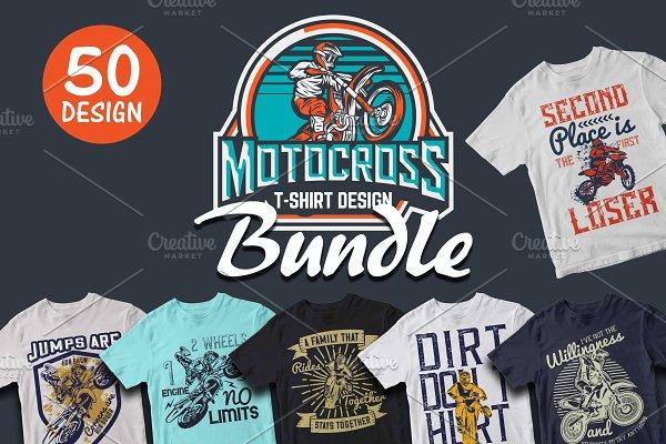 50 Editable Motocross T shirt Design