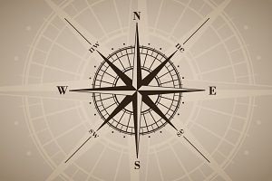 Vector compass rose (windrose) - 6