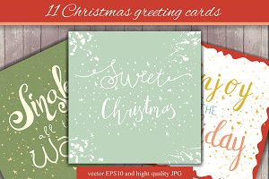 11 Christmas greeting cards