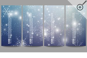 Set of 16 Xmas vector flyers