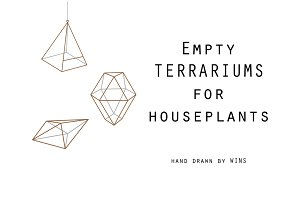 Empty terrariums for houseplants
