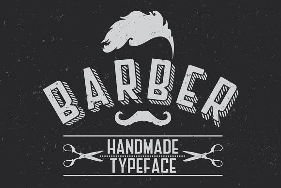 Barber Label Typeface in Display Fonts