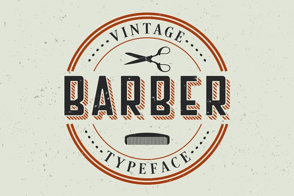 Barber Label Typeface in Display Fonts - product preview 2