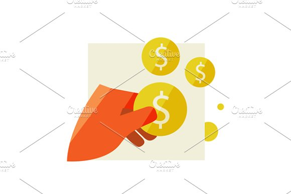 Hand Holding A Coin in Illustrations - product preview 2