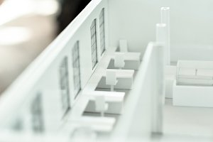 Student's Architectural Paper Model