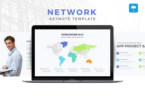 50 brilliant keynote templates to present like a pro creative network keynote template toneelgroepblik Choice Image