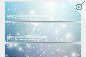 Set of Xmas vector banners