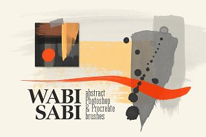 Wabi-Sabi Photoshop Procreate Stamps
