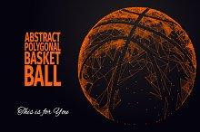ABSTRACT POLYGONAL BASKETBALL