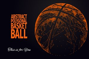 ABSTRACT POLYGONAL BASKETBALL