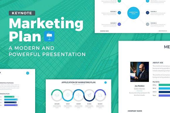 marketing plan keynote template presentation templates