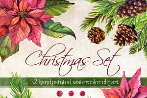 Christmas Set of 22 clipart elements