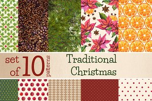 Traditional Christmas - 10 papers