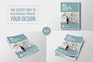 A4 Flyer Mock-up Set V.1