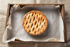 Apple Pie in Wood Box