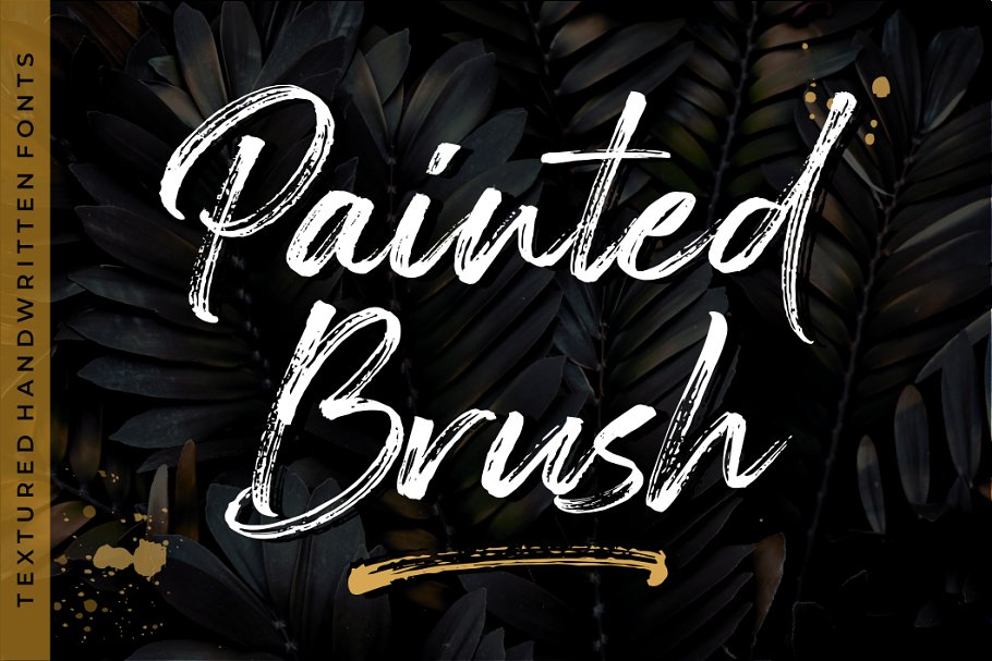 Painted Brush Fonts + Update