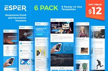 Esper - [Bundle] 6 Email Templates by  in Campaign Monitor