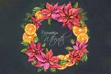 Christmas Wreath- Poinsettia