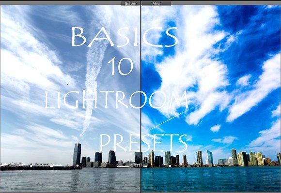 Lightroom presets-basics