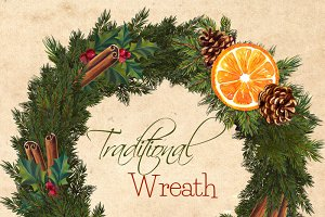 Christmas Wreath Clipart - Christmas