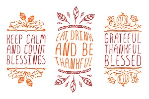Thanksgiving - handdrawn elements 2