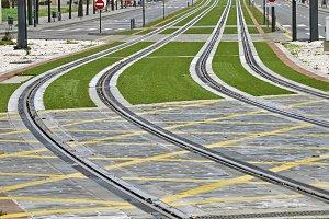 light rail routes in the city, Granada, Spain