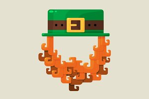 Irish St. Patricks Day leprechaun ic