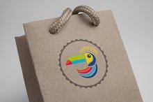 Colorful Pelican Logo Template