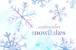 Watercolor Snowflakes Pack