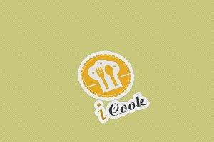 I Cook Logo Template