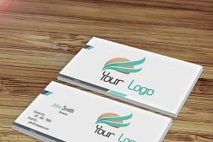 Modern Business Card with 2 Colors